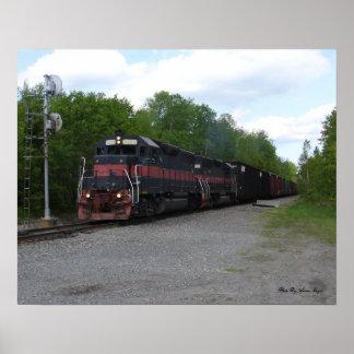 Tåg på signalerar affischer