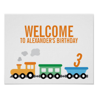 Tågfödelsedagsfest Poster