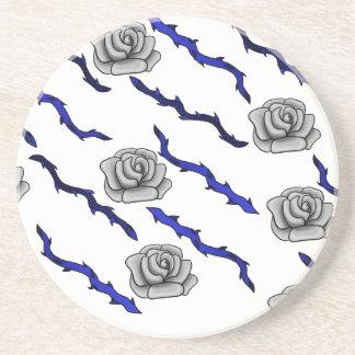 Taggar för svart för silverroblått underlägg sandsten