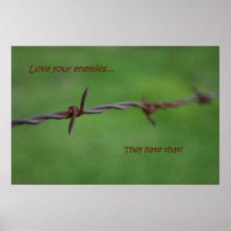 Taggen binder kärlek dina fiender affischer