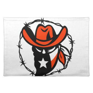 Taggen för den TexanfredlösTexas flagga binder Bordstablett