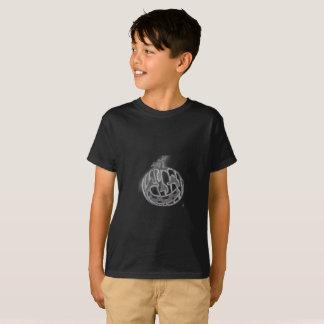 tagless t-skjorta för pojkar svart t-shirt
