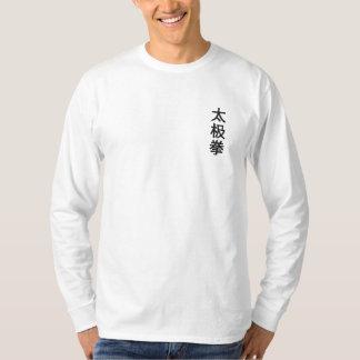 Tai-Chi Chuan i den broderade kinesen Broderad Långärmad T-shirt