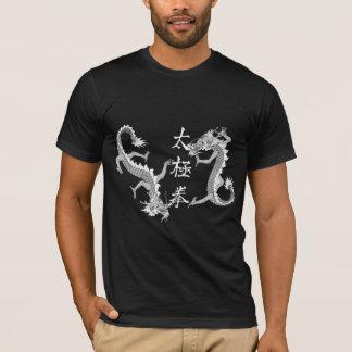 Tai-Chi Chuan och mörkT-tröja för två drakar T-shirt