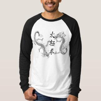 Tai-Chi Chuan och T-tröja för två drakar Tee Shirt
