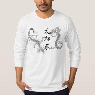 Tai-Chi Chuan och T-tröja för två drakar Tshirts
