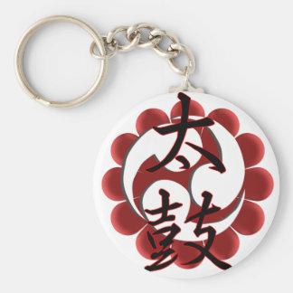 Taiko Kanji (stil 2) Rund Nyckelring