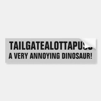 Tailgatealottapuss mycket förarglig Dinosaur Bildekal