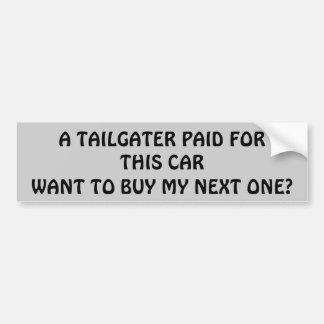 Tailgater lön för min nästa bil? bildekal