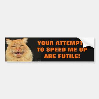 Tailgaters försök är den fruktlösa katten Meme Bildekal