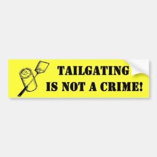 Tailgating är inte ett brott bildekal