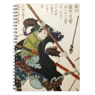 Taiso - Ronin som klara sig själv av pilar Anteckningsbok Med Spiral