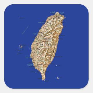 Taiwan kartaklistermärke fyrkantigt klistermärke