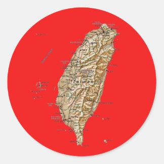 Taiwan kartaklistermärke runt klistermärke