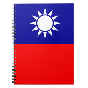 Taiwanesisk flagga anteckningsbok