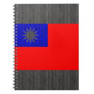 Taiwanesisk flagga för modernt mönster anteckningsbok med spiral