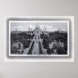 Taj Mahal Indien 20-talvintage Poster