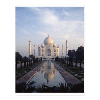 Taj Mahal reflexion i Agra, Uttar Pradesh, Indien Vykort