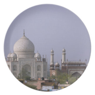 Tajen Mahal dominerar townen av Agra Tallrik