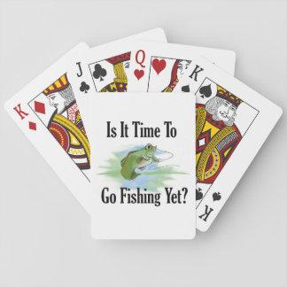 Tajma för att gå att fiska leka kort casinokort