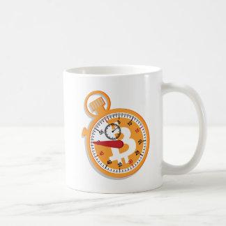 Tajma för att göra den Bitcoin Stopwatchmuggen Kaffemugg