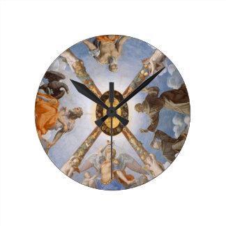 Tak för Bronzino italienskt konstkapell Rund Klocka