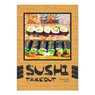Takeout Sushi vet du att du önskar det japansk mat 12,7 X 17,8 Cm Inbjudningskort