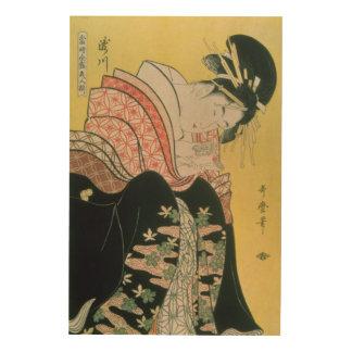 Takigawa från Tea-Huset, Ogi Trätavla