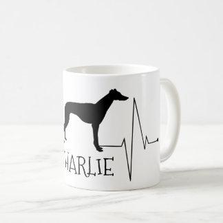 Takt för hjärta för hund för kaffemugg