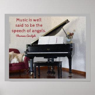 Tal av änglar - citera Thomas Carlyle - tryck Poster