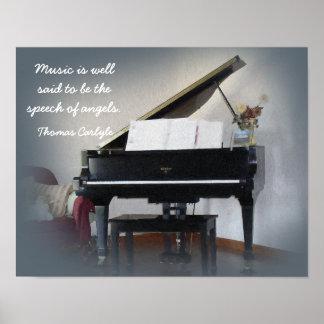 Tal av änglar - det Thomas Carlyle Poster