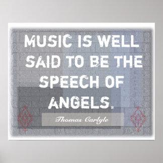 Tal av änglar - konsttryck poster