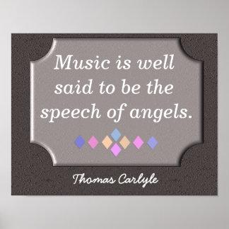 Tal av änglar - konsttryck - Thomas Carlyle tryck Poster