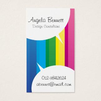 Tal bubblar regnbågevisitkorten visitkort