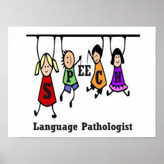Tal-Språk patologungar Poster