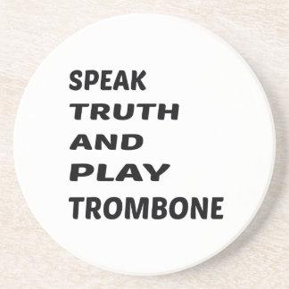 Tala sanning och leka trombonen underlägg