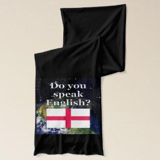 Talar du engelska? på engelskt. Flagga & jord Halsduk