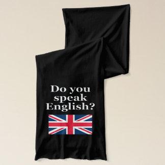 """""""Talar du engelska? """"på engelskt. Flagga Sjal"""