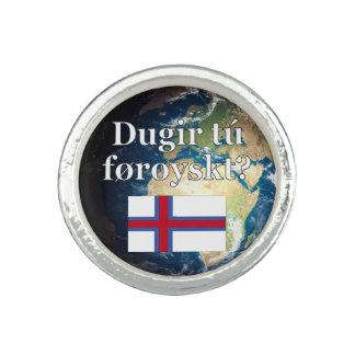 Talar du Faroese? i Faroese. Flagga & jord Ringar Med Foto