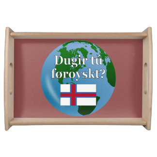 Talar du Faroese? i Faroese. Flagga & jordklot Barbricka