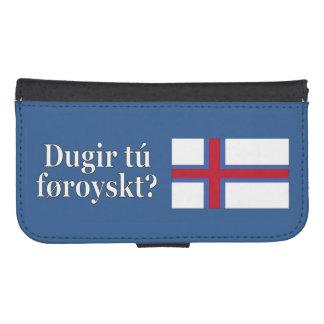 Talar du Faroese? i Faroese. Flaggawf Plånbok För Mobilen