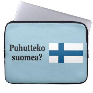 Talar du finska? i finska. Flaggabf Laptop Fodral