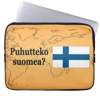 Talar du finska? i finska. Flaggabf Laptop Sleeve
