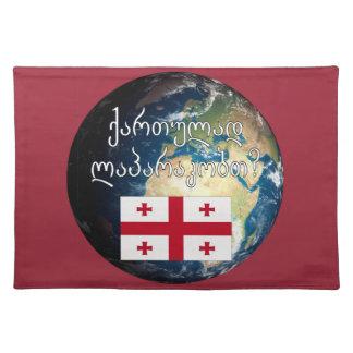 Talar du georgier? i georgier. Flagga & jord Bordstablett