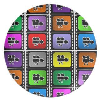 tallrikar filmar fläkten för ramar för biokärlekfi