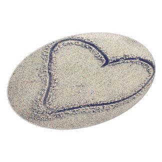 Tallrikar för hjärta för Sand för dekor för hem