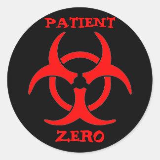 Tålmodig nollBiohazardklistermärke Runt Klistermärke
