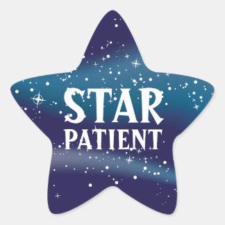 Tålmodiga pediatriska klistermärkear för stjärna stjärnformat klistermärke