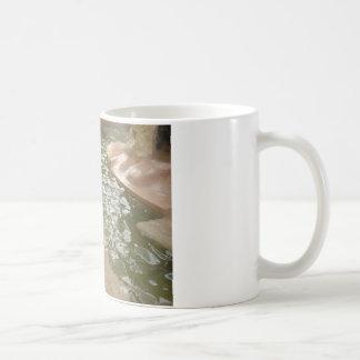 Tålmodigt försegla kaffemugg