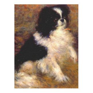 Tama den japanska hunden vid Pierre-Auguste Renoir Vykort